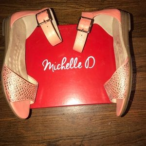 Shoes - Michelle D Roxanne Leather Sandals with bling
